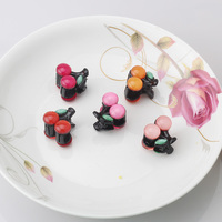 Sunmer Sweet Candy Cherry Fruit Hair Claws Clips Hairpins Girls Hair Accessories Leaf Patterns Barrettes 83170