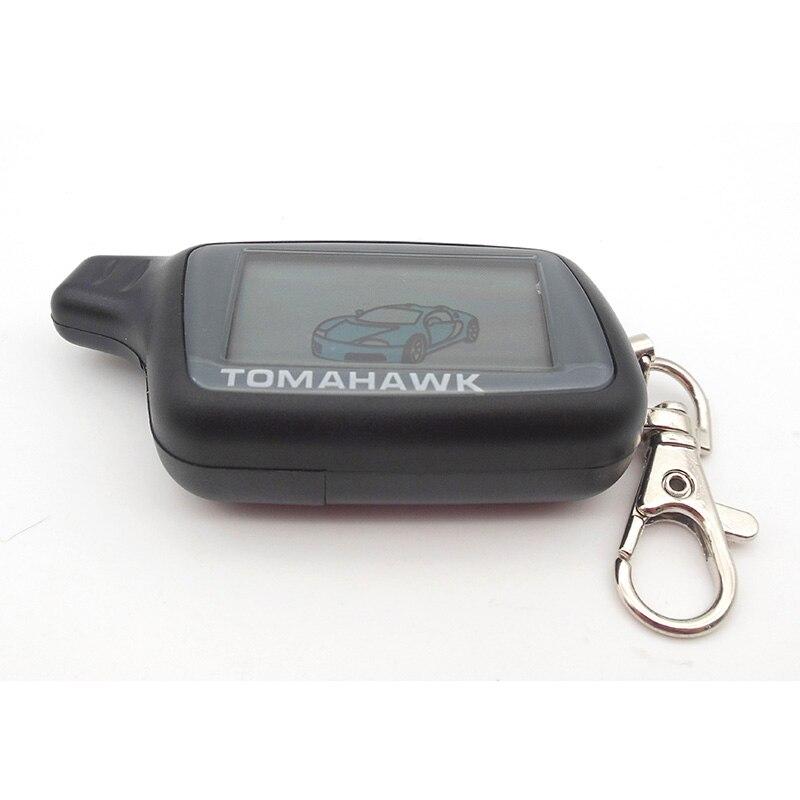 imágenes para Rusia versión X5 mando a distancia lcd para Tomahawk X5 lcd remoto de dos vías sistema de alarma del coche del envío libre
