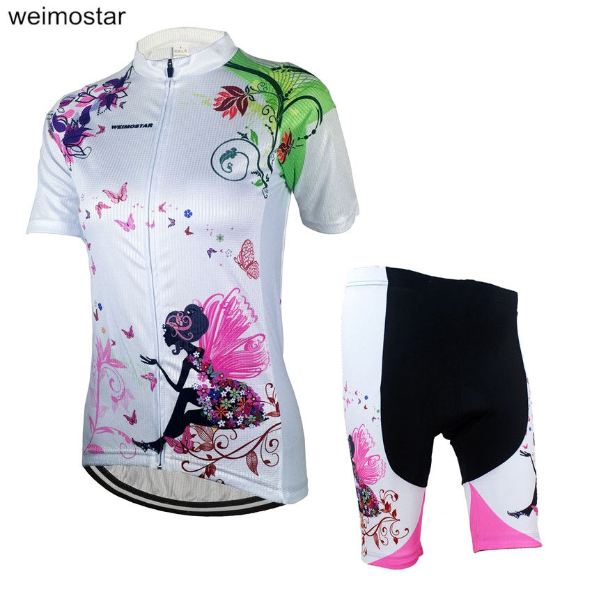 WEIMOSTAR Women Bicycle Team Cycling Jersey/Cycling Clothing Sets Sportswear Bike Roupa Ciclismo Outdoor Riding Clothing CD6710