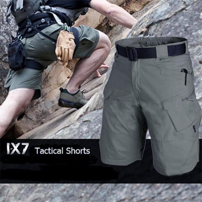 Мужские Городские шорты-карго в стиле милитари, хлопковые уличные камуфляжные короткие брюки FS99