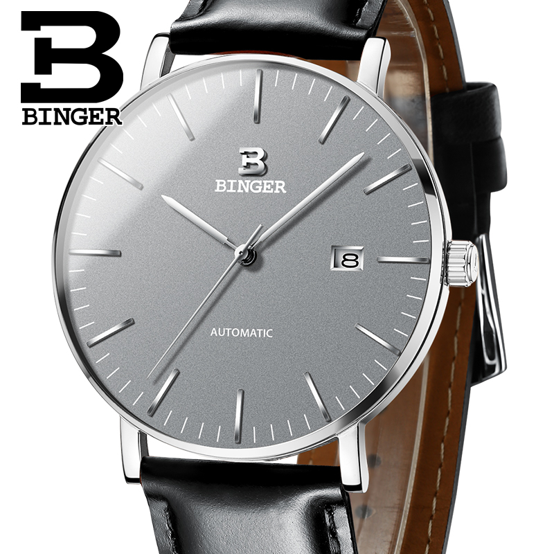 Switzerland BINGER Mens Watches Luxury Brand automatic mechanical Men Watch Sapphire Male Japan Movement reloj hombre B-5081M-4 switzerland binger watch men 2017 luxury brand automatic mechanical men s watches sapphire wristwatch male reloj hombre b1176g 6