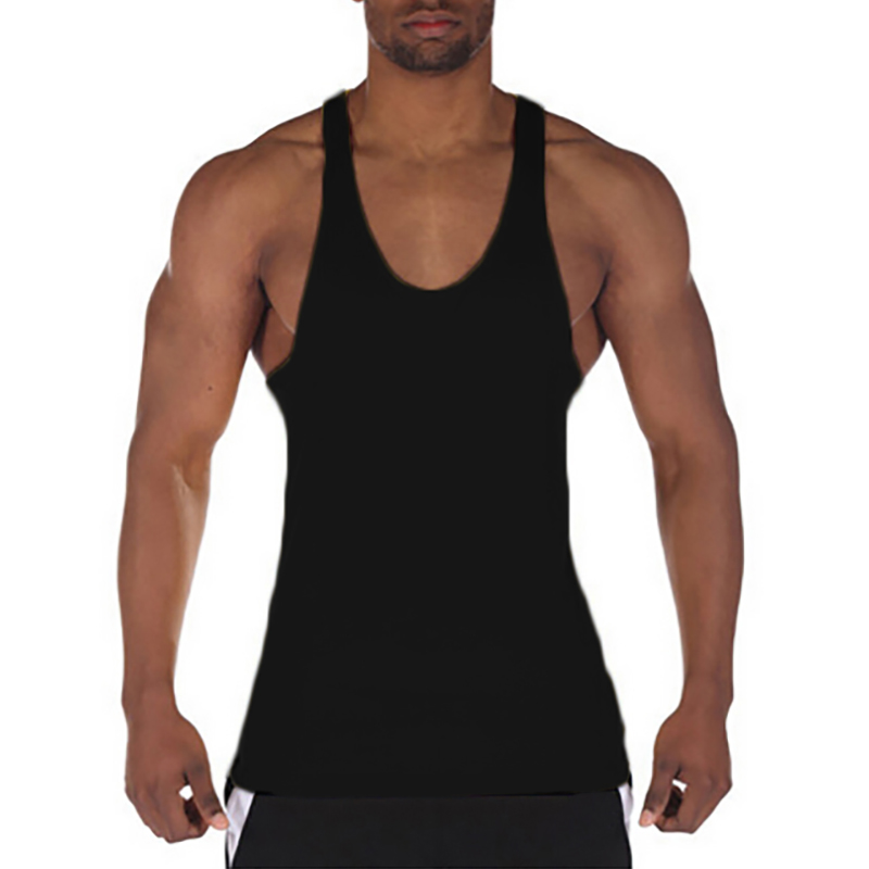 Muscleguys gyms vest bodybuilding clothing fitness men solid musculation stringer   tank     tops   blank sleeveless men undershirt