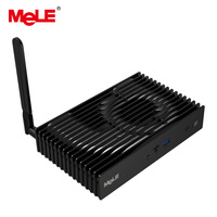 Intel Celeron J3455 Quad Core MeLE Fanless Mini PC Windows 10 Pro Mini Computer 3GB 32GB Dual 4K HDMI DP WiFi 5GHz LAN SSD HDD