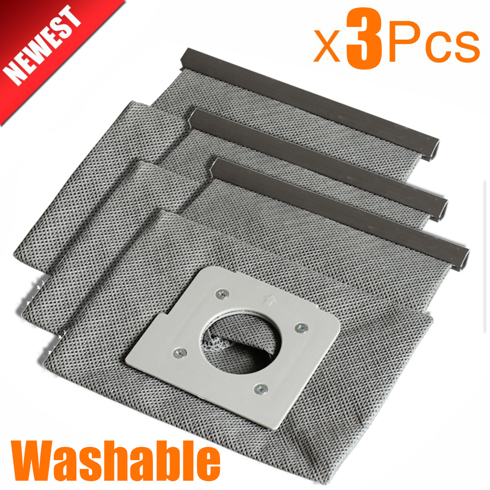 цена на 3Pcs New washable vacuum cleaner bags hepa filter dust bag cleaner bags For LG V-743RH V-2800RH V-943HAR V-2800RH V-2810