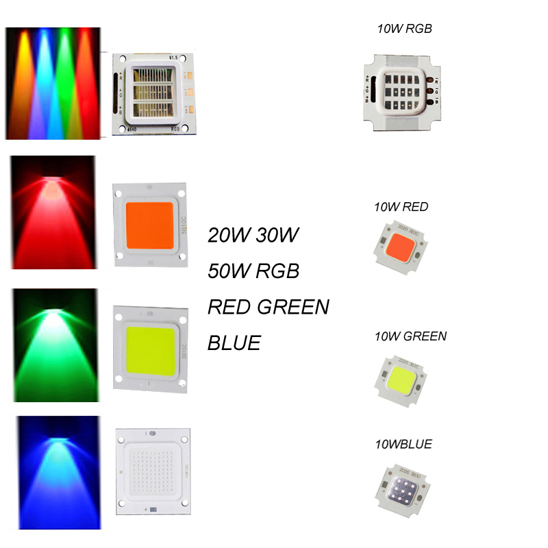 Flood Light Bead SMD LED Chips COB High Power for DIY 10W 20W 30W 50W Red/green/Bule/RGB