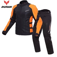 Free shipping 1set Summer Mesh Breathable Fabric Protective Gear Riding Off road Jacket Gear Moto GP Motorcycle Jacket and Pants