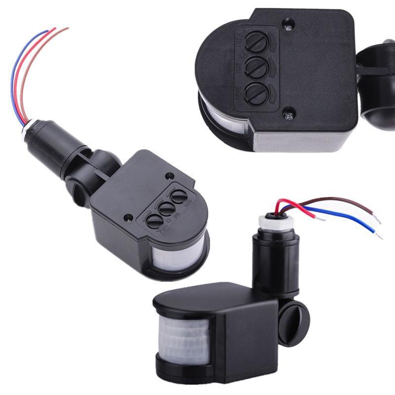 Détecteur de mouvement interrupteur de lumière extérieur AC 110 V 220 V automatique infrarouge PIR capteur de mouvement interrupteur de lumière murale pour lumière LED 12 M
