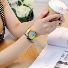 New Fashion Watercolor Swatches Watch Casual Vintage Leather Women Wristwatches Quartz Watch Relogio Feminino Gift Drop Shipping