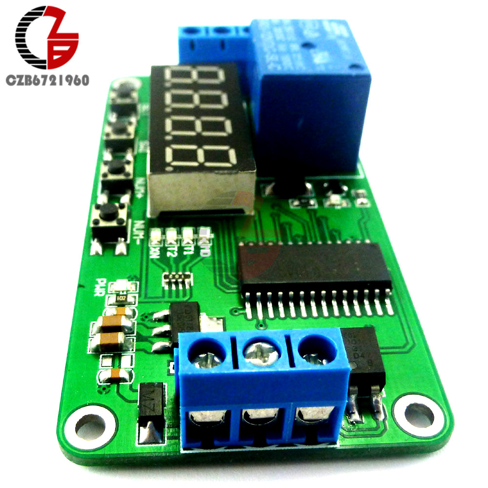 DC 5V Digital LED Display Multi-function Delay Relay PLC Cycle Timer Module Time Switch for Arduino UNO MCU Development Boards