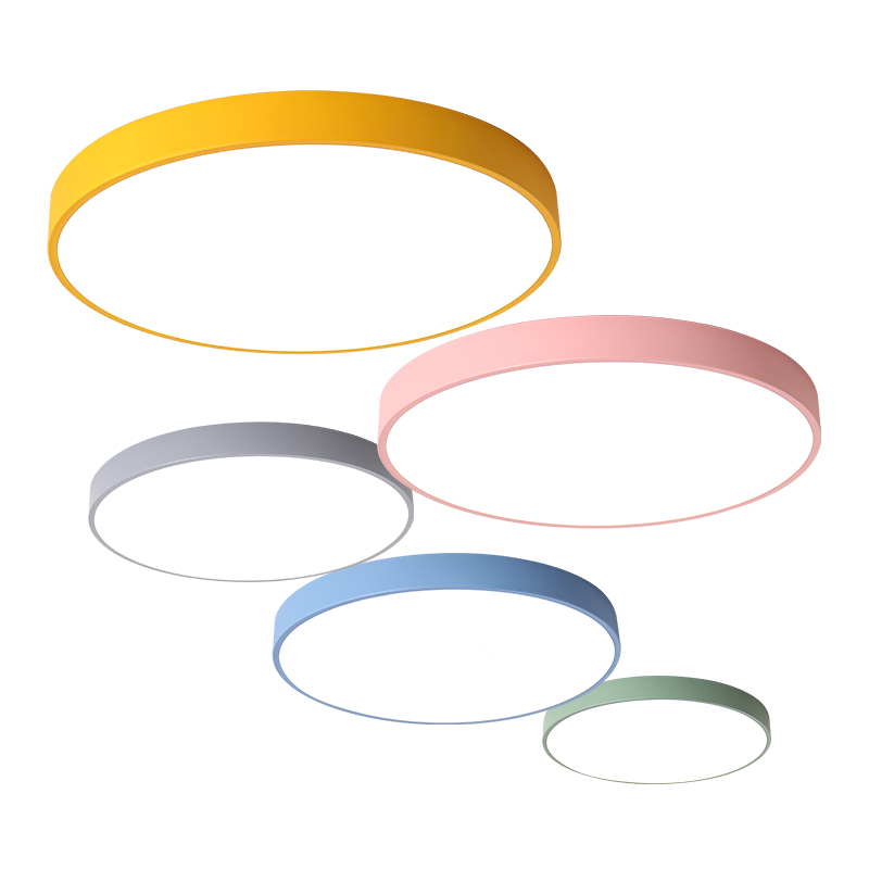 Remote Contro Dedicated Multicolor Ultra-thin Led Round Ceiling Light Modern Panel Lamp Lighting Fixture Living Room Bedroom Kitchen Ceiling Lights