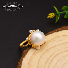 XlentAg Original Design Handmade Ring For Women Natural Freshwater Pearl Wedding Fine Jewelry anillos mujer GR0235