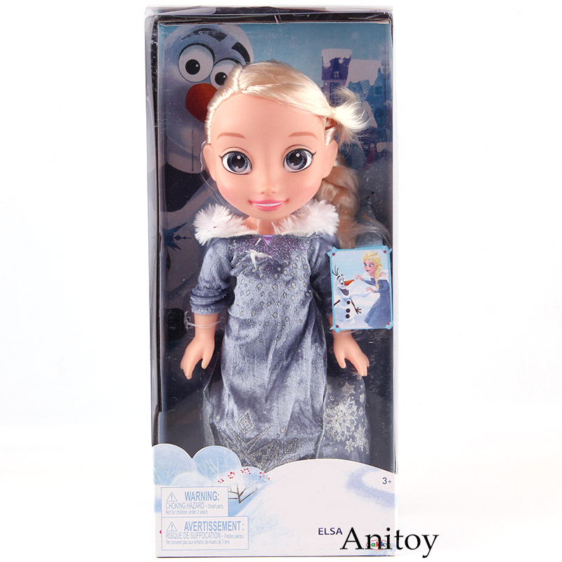 Cartoon Movie Snow Queen Elsa Doll Child Elsa Princess Toys Girls Christmas Birthday Gift PVC Action Figure