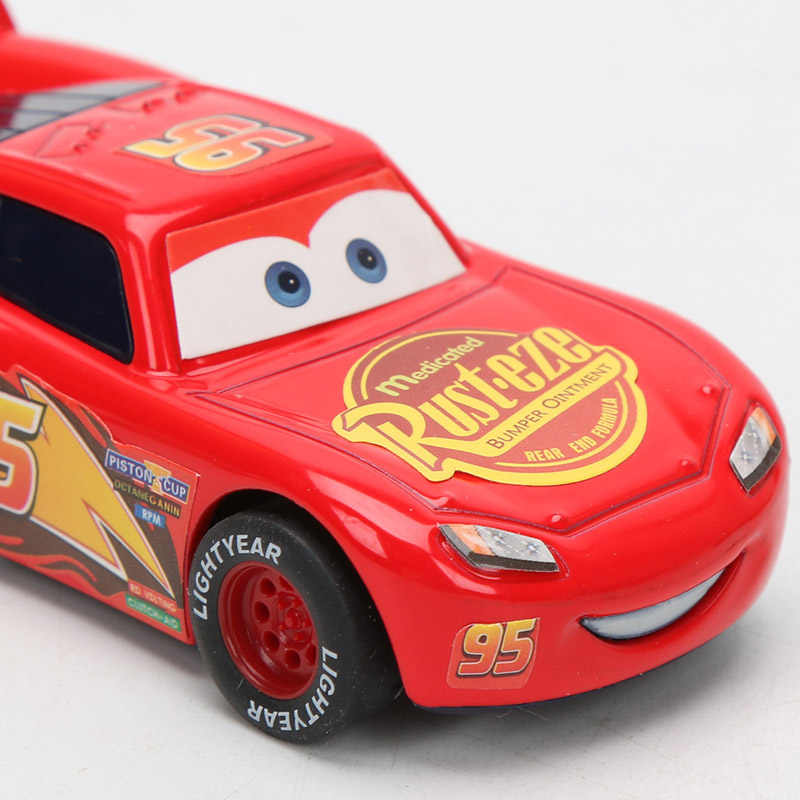 2019 9 cm דיסני פיקסאר מכוניות 3 לייטנינג מקווין מאטר ג 'קסון סטורם רמירז 1:55 Diecast מתכת למשוך בחזרה רכב צעצוע דגם בני מתנות