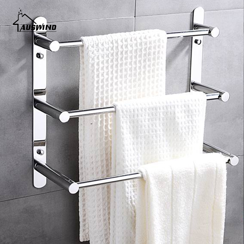 Modern 304 Stainless Steel Towel Ladder Modern Towel Rack Bathroom Products Wall  Mounted Bathroom Accessories 38/48/58