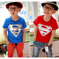 New Cotton Kids Boys Superman T-Shirt Short Sleeve Children Tees Costume Tops