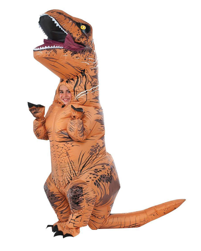 Children Kids Dinosaur Cosplay Inflatable T-Rex Costume Halloween Costume for Child Purim Cosplay Dress 50 percent off stainless steel gate door wall suction magnetic p41 strong resistance