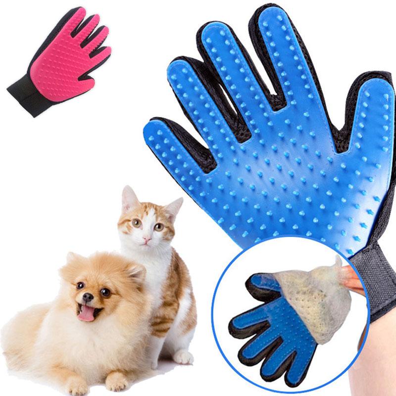 Высокое качество ПЭТ Уход за лошадьми мягкой TPR кисти перчатки собака моющие средства нежный эффективный массаж перчатки стиральная купаль...