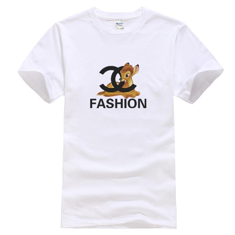 5addd87059 Camiseta de diseño de venado de cuento de hadas pulóver lindo Tee conejo  dar cara superior Cool Casual pride camiseta hombres Unisex envío gratis