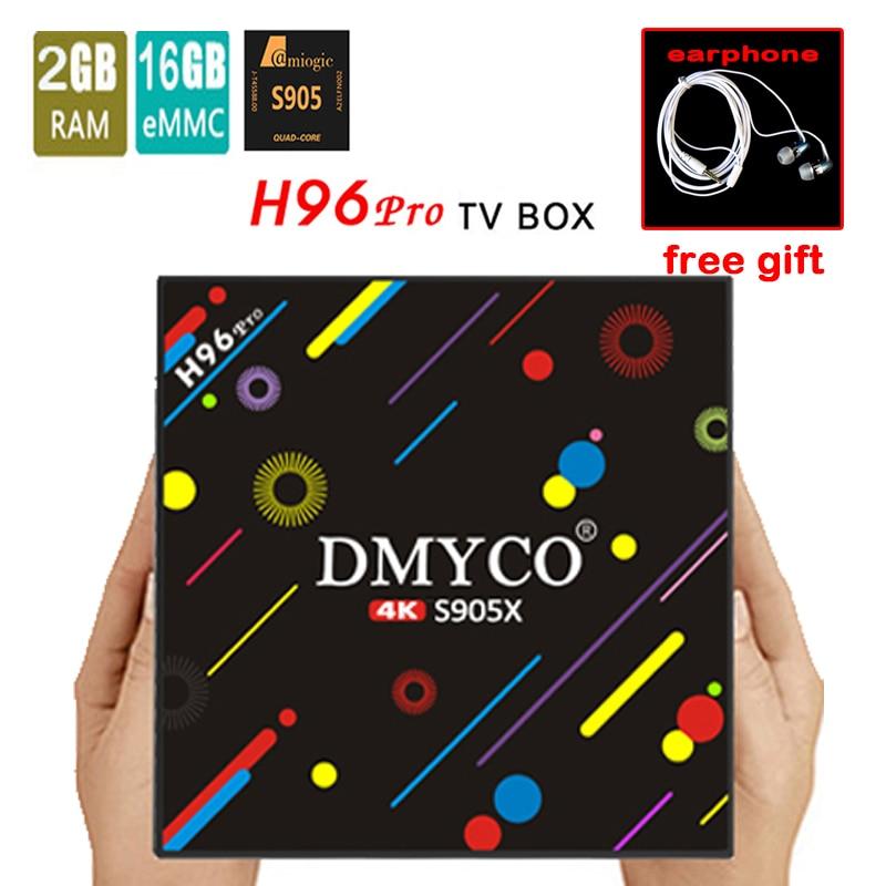 h96 pro 2GB/16GB M9S-PRO Smart Android TV Box Amlogic S905X Octa core XBMC 4K Mini PC WiFi H.265 DLNA Miracast HD Media Player 2018 lastest himedia h8 pro 2gb 16gb octa core uhd smart android tv box wifi 3d 4k media player pk mi box 3 x96 mini h96 pro x92