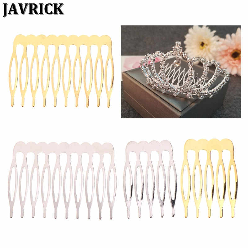 JAVRICK Bride Crown Comb Wedding Alloy Hair Accessories Jewelry Golden Silver Bridal Pin