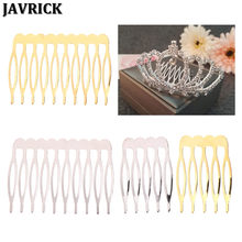 JAVRICK Bride Crown Comb Wedding Alloy Hair Accessories Jewelry Golden Silver Bridal Pin(China)