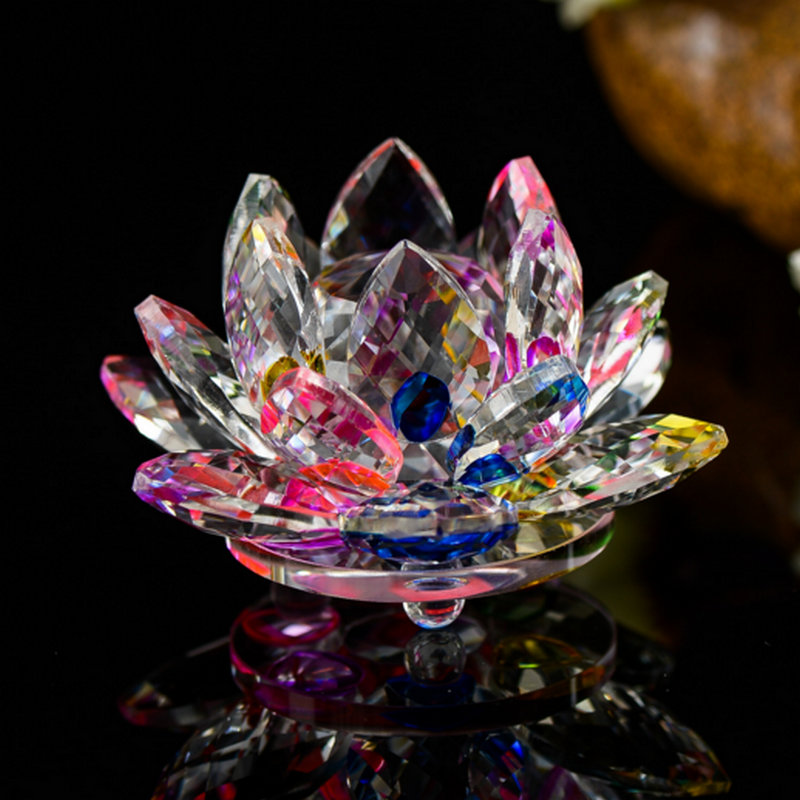 Artificial & Dried Flowers Ingenious Crystal Glass Rose Flower Figurines Craft Wedding Valentines Day Favors And Gifts Souvenir Table Decoration With Box Artificial Decorations