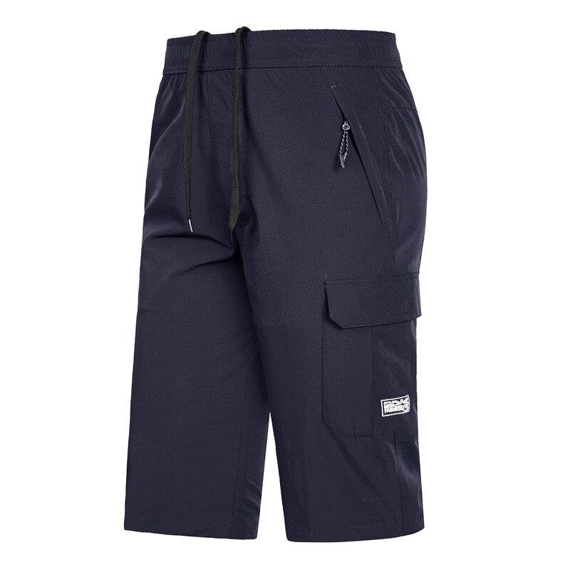 Short Pant Stretch Bermuda Large-Size Summer 6XL Pocket Elastic Male Quick-Dry 5xl Zipper
