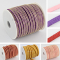25yard/roll Korean Punk Rock Rhinestones Soutache Faux Suede Cord 5mm For Bracelets Jewelry Making diy Choker Necklace