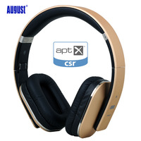 August EP650 Bluetooth Headphones With 3 5mm Audio In Wireless Or Wired Stereo Headset With NFC