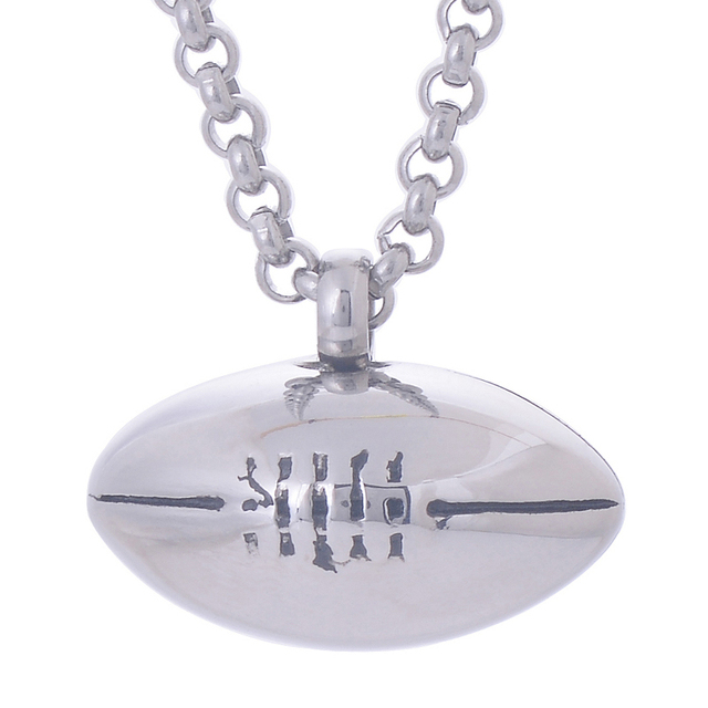 316L Stainless Steel Rugby Pendant Necklace memorial Cremation ash