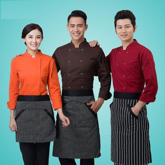 Cocineros de colores de cocina uniformes de chef de alta calidad Reino Unido ropa femenina restaurante chefs ropa de mujer chefwear envío gratis