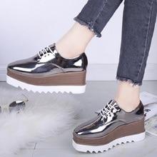 2018 Autumn Women Wedges Shoes Platform Oxford Wome