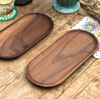 Black walnut fruit tray plates the whole wood real wood plates dishes without splice tray cake plates