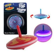 Мигает гироскоп Прядильный механизм Детская ручной поворота вращающийся гироскоп игрушки с прохладным Цветной светильник эффект небольшие подарки игрушки для детей