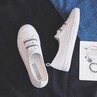 Femme chaussures 2019 été nouvelle mode chaussures femme décontracté microfibre cuir Simple femmes décontracté rayé chaussures baskets respirant