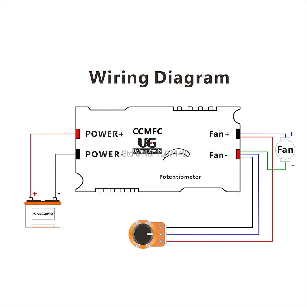 potentiometer wiring diagram fan [ 1000 x 1000 Pixel ]