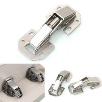 LHX YP108 2pcs 3 Or 4 Inches Non Opening Hinge For Cabinet Furniture Door Cupboard Home