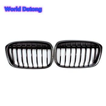 ABS 1 פסיס ראסינג גריל מבריק שחור גריל עבור BMW X1 F48 xDrive18d xDrive20d xDrive25d פגוש קדמי רשת 2015 2016