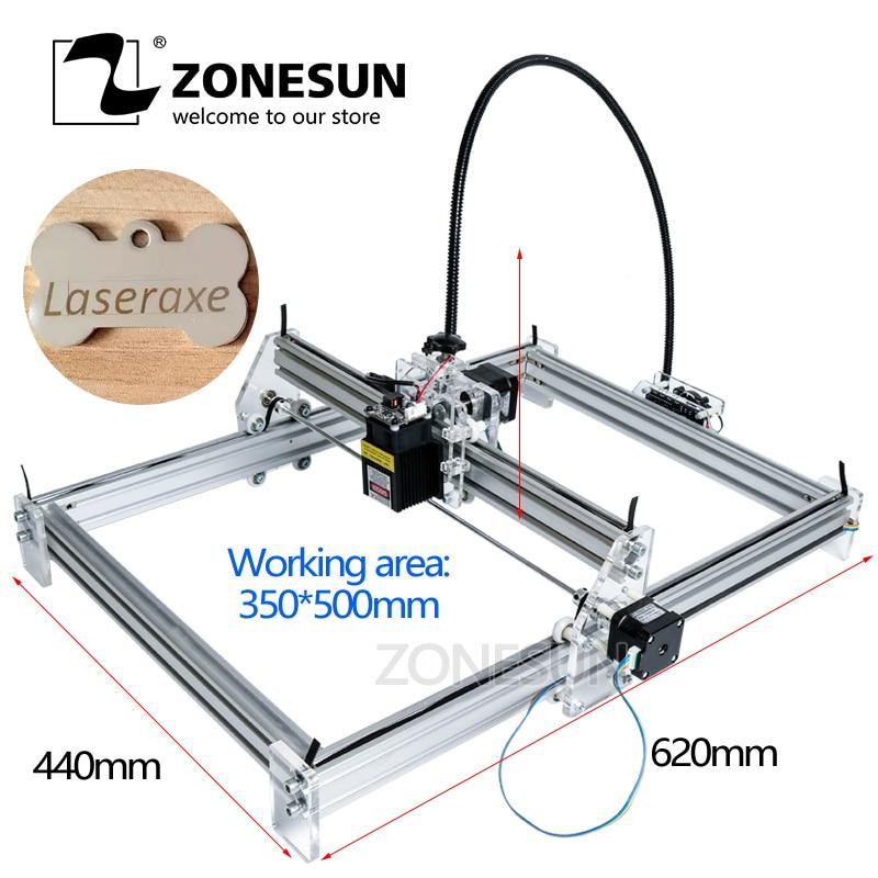 ZONESUN 5.5 W grande surface Mini bricolage Laser bois papier cuir gravure graveur Machine Laser gravure Machine de découpe