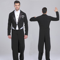 Men's Ballroom Dance Costumes Suit Swallow tailed Coat Shirt Pants 3 Pieces With Standard Performance Dancewear 2015 New Arrival