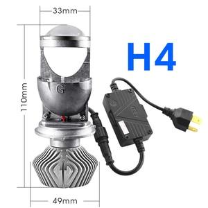 Image 3 - Hlxg 70 w/para lampa H4 mini projektor LED obiektyw Automobles LED żarówka zestaw do konwersji na LED Hi/reflektor z wiązką światła 12 V/24 V 5500K biały