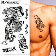 M-Theory 3D Lion Tiger Body Makeup Temporary 3d Tattoos Sticker Henna Flash Tatoos Body Arts Tatto Sticker