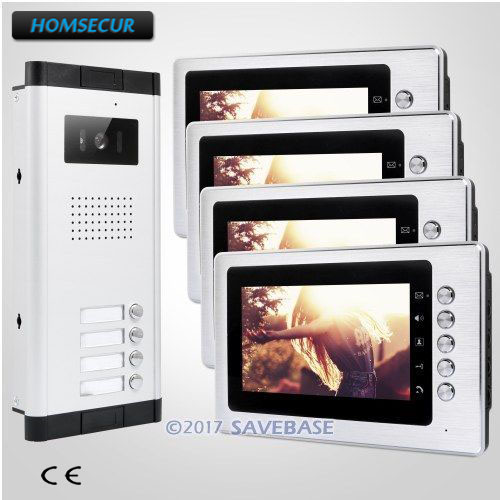 HOMSECUR 7 TFT Video Doorbell Security Intercom with Outdoor Monitoring for Secure Home