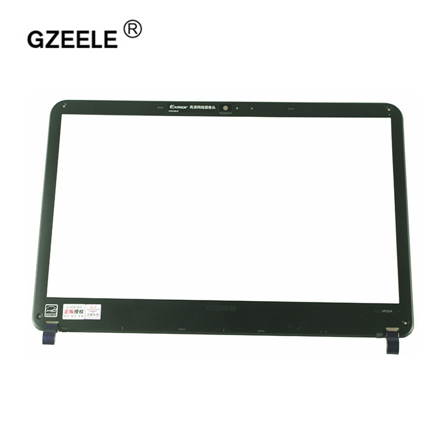 GZEELE laptop LCD front Bezel cover for SONY VAIO PCG-61211T PCG-61212T EA300C EA400 EA26EC PCG-61211W EA100 EA200C  new B Shell free shipping brand new laptop b cover for lenovo rescuer 14 y41 70 series lcd bezel front frame screen lid b shell