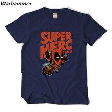 Warhammer 2017 New Arrvial DEADPOOL SUPER MERC MOUTH Men T shirt O-neck Short Sleeve EU Size Summer Tee Shirt Cotton Printed Tee