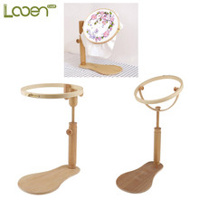 looen 1 pcs embroidery stand hoop wood embroidery and cross stitch hoop set embroidery hoop ring - Embroidery Frames