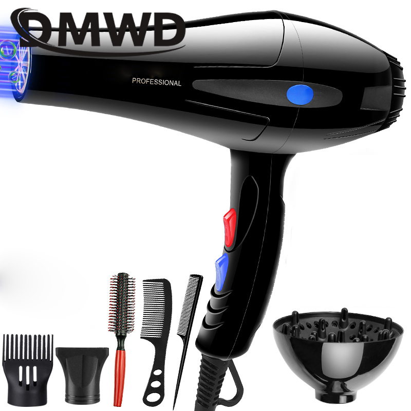 DMWD Hot And Cold Wind Blow Hair Dryer AC Motor Electric Hairdryer Fan Professional Hairdressing Barber Salons Styling Tools EU