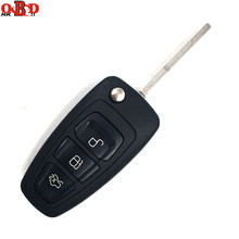 Hot!HKOBDII Brand New Folding Flip Remote Key 3 Button For FORD Focus 433MHZ WITH 4D63 Chip HU101 Blade
