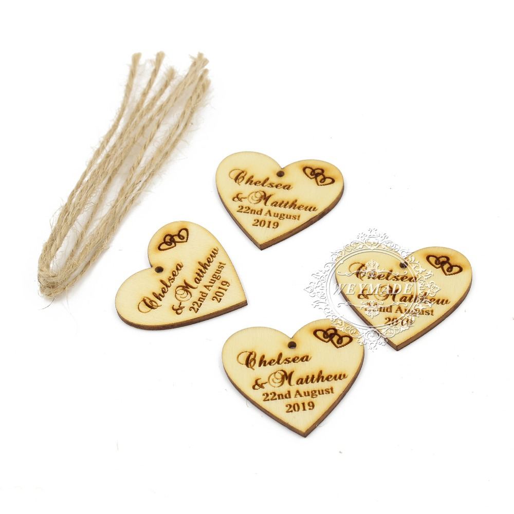 100*Personalized Engraved Wooden Wine Charm Custom Wood Label Tags ...