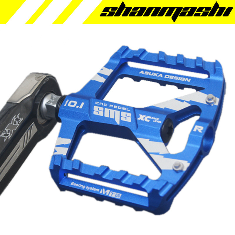 цена на SMS Bicycle Pedals Aluminum Alloy Thread Sealed Bearings MTB Pedal Road Cycling Riding BIKE Pedals